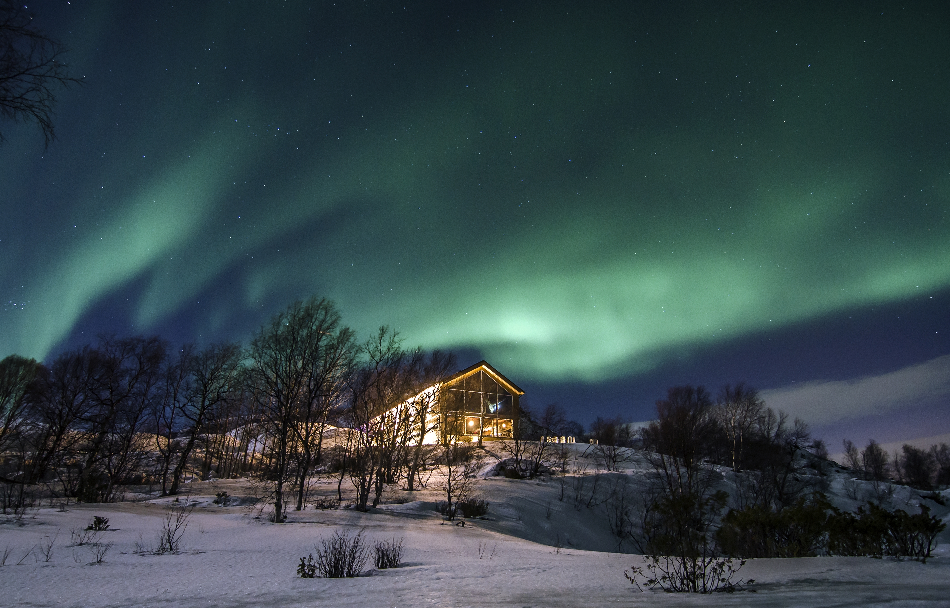 Gammehytte snowhotel kirkenes nordlys